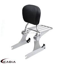 Detachable Adjustable Sissy Bar Passenger Backrest Chrome For Harley Dyna 06-UP