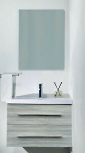 "Kimberly 24"" Wall Hung Bathroom Vanity Set"