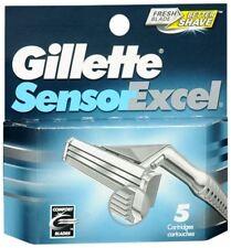 Gillette Sensor Excel Refill Cartridges 5 Cartridges Per Pack - New & Sealed!