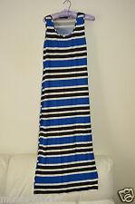 """Sz 16 Ladies Blue Striped Midi Maxi Dress Apr 53"""" Long"""