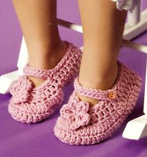 SWEET Floral Child's Mary Janes Slippers/Crochet Pattern INSTRUCTIONS ONLY