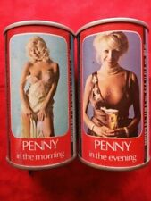 Tennent'S Penny In The Morning/Evening Beer Cans From Scotland, Bottom Opened