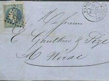 FRANCE Cover Paris Charonne 1869 {samwells-covers} CG231