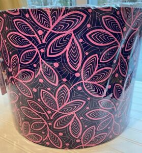 HANDMADE Drum Style LAMPSHADE LAMP SHADE using Amy Butler Fabric Purple + Pink
