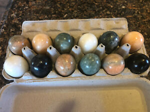 Large Marble Eggs 1 Dozen, Variety of Colors,