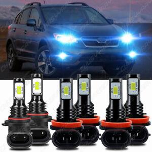 For Subaru XV Crosstrek 2015-2020 8000K LED Headlights High Low + Fog Bulbs Kit