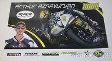 2015 Arthur Aznavuryan signed Yamaha YZF-R6 600 Daytona 200 ASRA poster