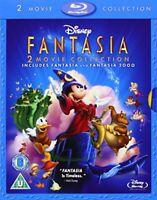 Fantasia / Fantasia 2000 [Blu-ray] [1941] [Region Free] [DVD][Region 2]