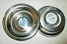 Lot of 2 Stainless Steel Large Pet Dog Cat Food Water Bowl Dish 52.4 oz