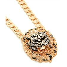 Lion Head Rihanna Inspired Gold Statement Necklace