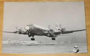 Vintage Malev (Hungary) Ilyushin IL-18 Airline Issued Postcard