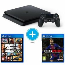 CONSOLA SONY PS4 SLIM 1TB + GRAND THEFT AUTO V + PRO EVOLUTION SOCCER 2019