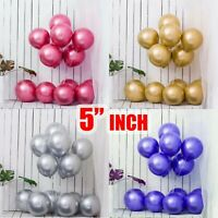 "5"" Metallic Latex Balloons Chrome Bouquet Wedding Birthday Party Supplies UK"