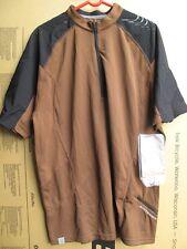 Bontrager Rhythm Comp Jersey Short Sleeve Brown Cycling MTB half zipper NEW TREK