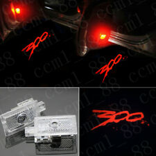 2x Red 300 Under Led Puddle Projector Ghost Light For Chrysler 300C 300S 2005-19