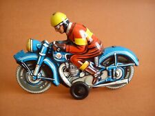 Old tin toy motorcycle 70's made in Western Germany