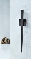 Kaminbesteck Edge 1 schwarz Danish Design skandinavisch mit Wandhalterung
