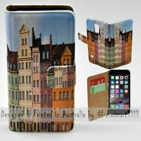 For Apple iPhone Series - Polish Colour Buildings Print Mobile Phone Case Cover