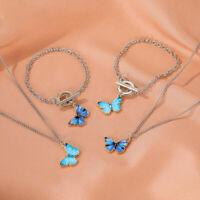 Mode Emaille bunte Schmetterling Halskette Armband Frauen Kette Choker Juwel;XUI