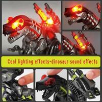 Gehen Elektrisch Dinosaurier Roboter  Mit Musik Licht Spielzeug für Kinder NEU