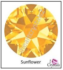 SUNFLOWER Yellow 40ss 8.5mm 6 pieces Swarovski Crystal Flatback Rhinestones 2058
