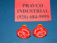 Lot of 2 Trailer Air Supply Knob Red with Yellow Stripe