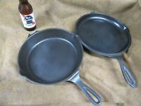 Wagner 1403,5 Star Skillet set,Double Skillet,Cast Iron,Sits Flat~GD+😎😎W5.3.20