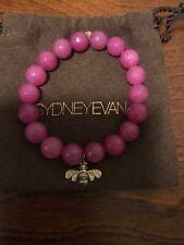 Sydney Evan Bead Bracelet Fuschia Stones With Bumble Bee