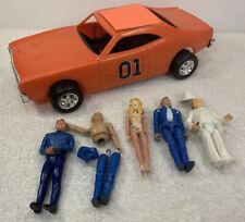 Vintage Dukes of Hazard General Mego Toy Plastic Car 1980 w 5 figures lot read