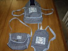 EEUC 3pc Graco Doll Set Moses Bed Backpack Carrier Diaper Bag Fits Bitty Baby