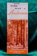 Live Work & Play in Anderson California - Brochure - Circa 1965
