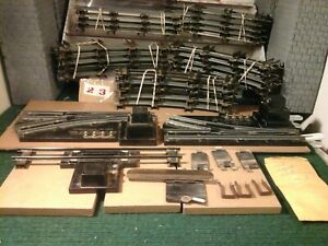 AMERICAN FLYER S SCALE TRACK LOT 57 TOTAL PRE OWENED