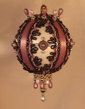 Victorian Style Christmas Tree Ornaments - Brocade Beauty