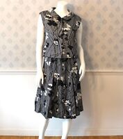 Vintage 1960s to 1970s Donald Brooks Designer Black and White Outfit