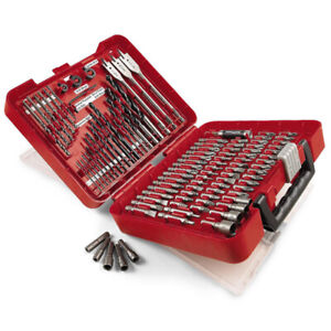 Craftsman 100 Piece Drill Bit Kit w/Carrying Case Drilling Driving Metal/Masonry