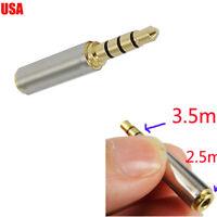 3.5/3.5mm to 2.5/2.5mm mm Headphone Jack/Plug AV Video/Audio Convertor/Adapter