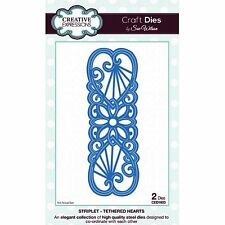 SUE WILSON STRIPLET COLLECTION TETHERED HEARTS DIE BY CREATIVE EXPRESSIONS