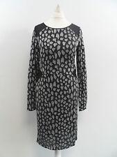 Oasis Sparkle Animal Bodycon Dress Grey SIZE SMALL BRAND NEW BOX8400 Z