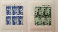 NEW ZEALAND set 2 miniature sheet mint mnh; postillion 1950s