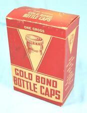 * Vintage Retail Collectors Cardboard Box - Gold Bond Bottle Caps, FULL BOX