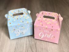 12 Gender Reveal Baby Shower Favor Boxes / Treat Boxes / Gift Boxes