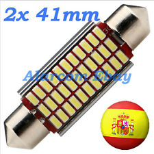 2 x BOMBILLAS LED 41mm C5W Festoon 33 SMD 3014 Canbus No Error #1034