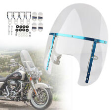 Motorcycle Clear 28-38mm Large Windshield for Yamaha Cruiser Harley Style