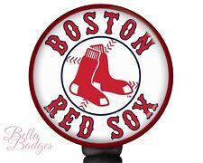 Boston Red Sox Badge Reel MLB Baseball ID Holder