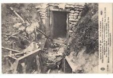 somme, tranchée allemandes bouleversées par le bombardement