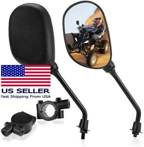 """ATV & Motorcycle Side Rear View Mirror Set for 7/8"""" Handlebars - Free Shipping"""