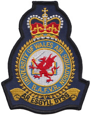 University of Wales Air Squadron UWAS RAF Crest Embroidered Patch