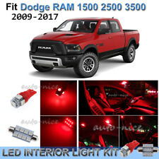 For 2009-2017 Dodge RAM 1500 2500 3500 Brilliant Red Interior LED Lights Kit 8X