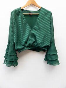 Bardot Long Sleeve Draped Blouse Size 10