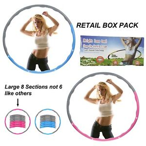PROFESSIONAL COLLAPSIBLE WEIGHTED HULA HOOP FITNESS EXERCISE ABS WORKOUT GYM